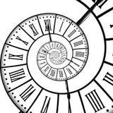 Tijdspiraal, op wit wordt geïsoleerd dat Royalty-vrije Stock Afbeelding