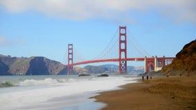 Tijdtijdspanne Golden gate bridge San Francisco stock footage