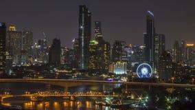 Tijdtijdspanne 4k: Cruise in Chao Phraya River Through Bangkok stock footage