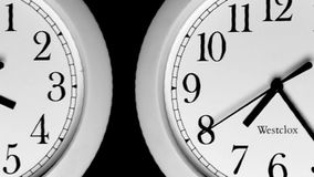 Tijdtijdspanne - Klokken stock video