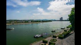 Tijdtijdspanne Rijn in Bonn stock videobeelden