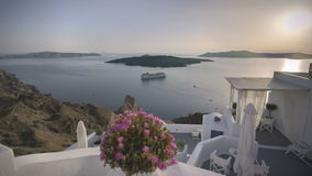 Tijdtijdspanne Santorini stock video