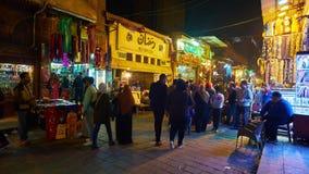 Tijdtijdspanne van activiteit op markt in Kaïro stock videobeelden