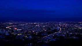 Tijdtijdspanne van Chiang Mai-de schuine stand van de stadsmening neer stock footage