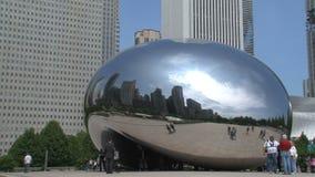 Tijdtijdspanne van de Boon bij Millenniumpark, Chicago stock footage