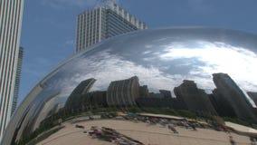 Tijdtijdspanne van de Boon bij Millenniumpark, Chicago stock video