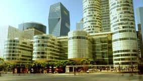 Tijdtijdspanne van de levensstijlachtergrond van stadsmensen stock footage