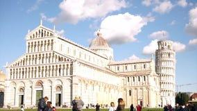 Tijdtijdspanne van de stad van Pisa in Italië stock videobeelden