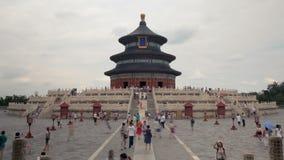 Tijdtijdspanne van de tempel van hemel, Peking, China stock footage