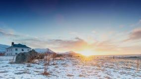 Tijdtijdspanne van de winterlandschap in IJsland stock videobeelden