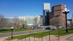 Tijdtijdspanne van Denver van de binnenstad stock videobeelden