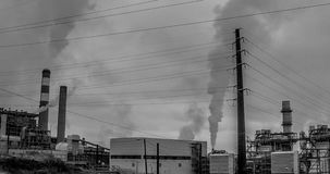 Tijdtijdspanne van elektrische centrales in Denver Colorado stock footage