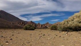 Tijdtijdspanne van het Nationale Park van Teide Tenerife, Canarische Eilanden, Spanje stock footage