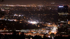 Tijdtijdspanne van San Fernando Valley bij Nacht - Los Angeles