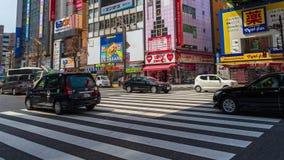 Tijdtijdspanne van straat in Akihabara in Tokyo, Japan stock footage