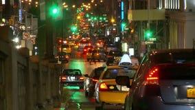 Tijdtijdspanne van Verkeer in de Stad van New York stock video
