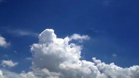 Tijdtijdspanne van wolken en hemel stock videobeelden