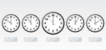 Tijdzones. Stock Afbeeldingen