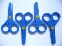 Tijeras azules Foto de archivo libre de regalías