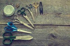 Tijeras de costura, herramienta Foto de archivo libre de regalías