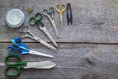 Tijeras de costura, herramienta Foto de archivo