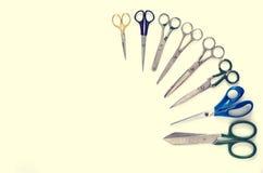 Tijeras de costura, herramienta Imágenes de archivo libres de regalías