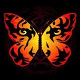 Tijger-gekleurde vlinder stock illustratie
