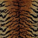 Tijger gestripte mozaïek vectorachtergrond Royalty-vrije Stock Afbeeldingen