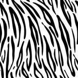 Tijger Patroontextuur die naadloze zwart-wit zwart herhalen & wit Stock Foto's
