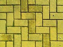 Tijolo amarelo que pavimenta Fotos de Stock