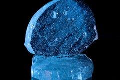 Tijolo azul do gelo Fotografia de Stock