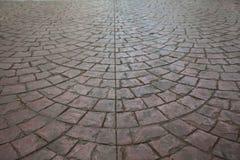 Tijolo cinzento do sem-fim da estrada Imagens de Stock Royalty Free