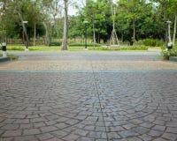 Tijolo cinzento do sem-fim da estrada Foto de Stock Royalty Free