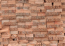 tijolo como o fundo Imagens de Stock