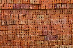 Tijolo da argila vermelha Fotografia de Stock