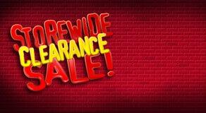 Tijolo da liquidação total de Storewide Imagens de Stock Royalty Free