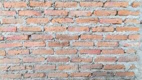 Tijolo da parede com cimento imagens de stock