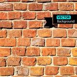 Tijolo da parede do vetor, fundo do grunge EPS Imagens de Stock Royalty Free