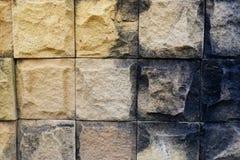 Tijolo de mármore da parede foto de stock
