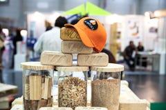 Tijolo de madeira Fotos de Stock Royalty Free