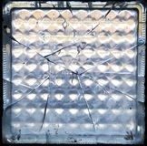 Tijolo de vidro quebrado Imagem de Stock Royalty Free
