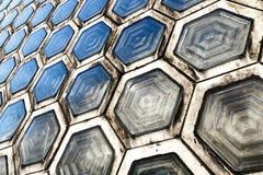 Tijolo de vidro sextavado Imagem de Stock