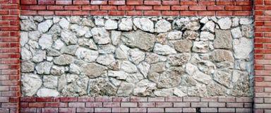 Tijolo decorativo moderno e parede de pedra Foto de Stock Royalty Free