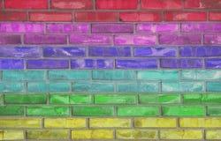 Tijolo do arco-íris Fotos de Stock