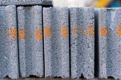 tijolo do branco da construção Fotos de Stock Royalty Free