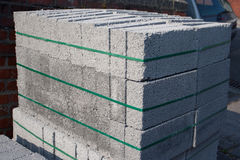 Tijolo do cimento Foto de Stock