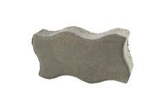 Tijolo do pavimento, isolado Bloco de cimento para pavimentar imagens de stock royalty free