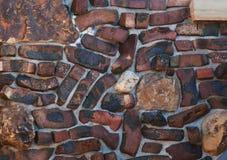 Tijolo do Velho Mundo e parede de pedra imagens de stock