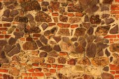 Tijolo e parede de pedra Fotografia de Stock Royalty Free