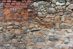 Tijolo e parede de pedra envelhecidos Imagens de Stock Royalty Free